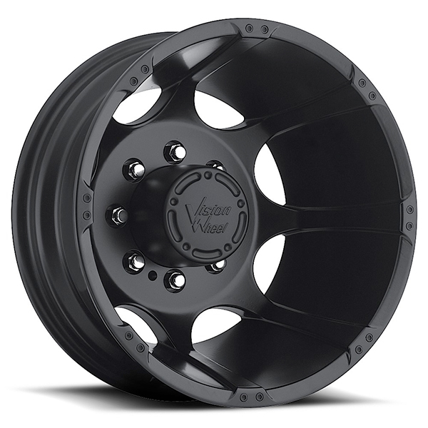 Vision 715 Crazy Eightz Duallie Matte Black Rear