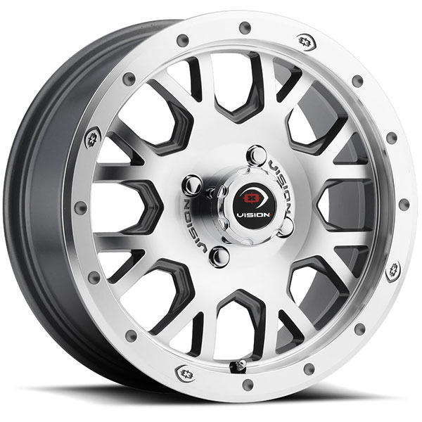 Vision GV8 Invader Gunmetal with Machined Face
