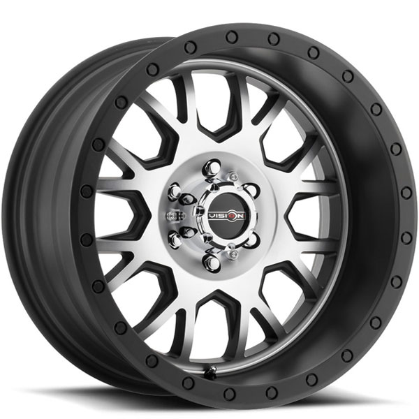 Vision GV8 Invader Matte Black with Machined Face