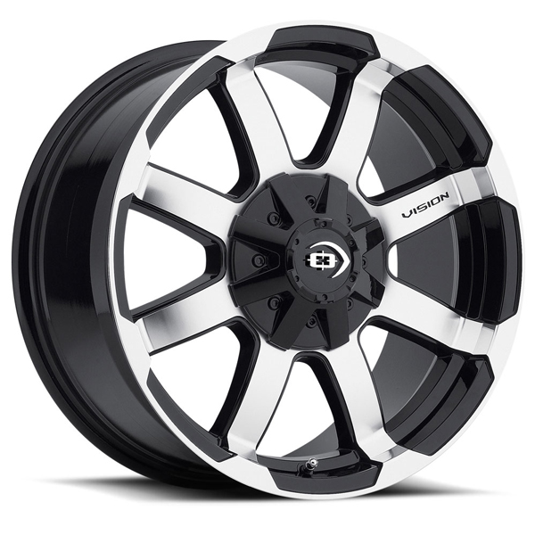 Vision Off-Road 413 Valor Gloss Black Machined