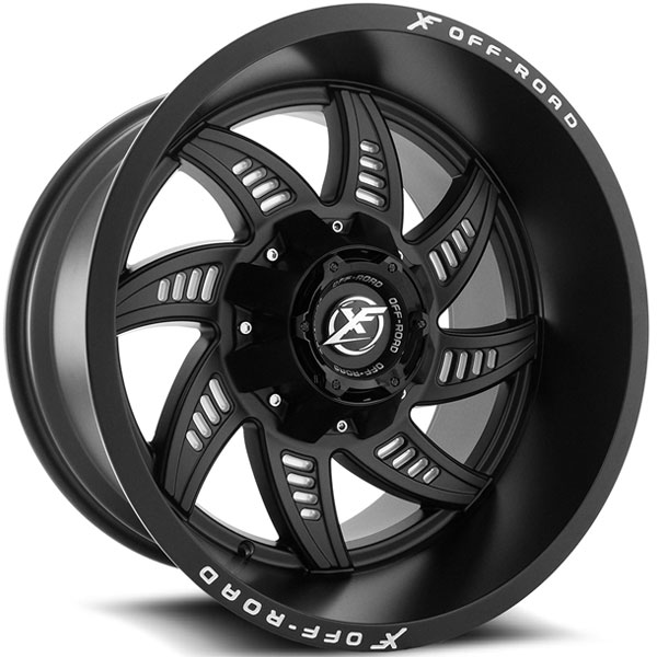XF Off-Road XF-206 Matte Black with Milling Holes