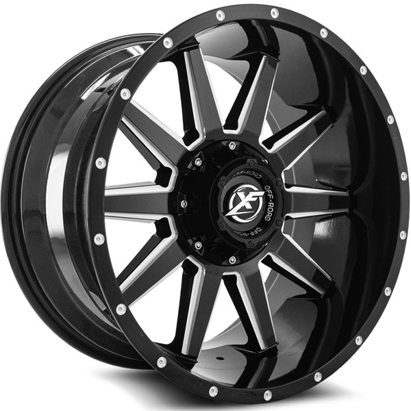 XF Off-Road XF-219 Gloss Black with Milled Spokes