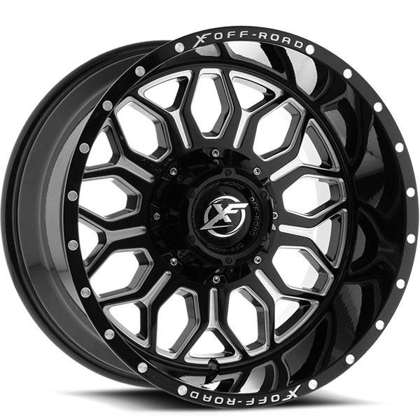 XF Off-Road XF-227 Gloss Black with Milled Spokes